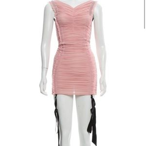 TRE Saks Fifth pink rushed dress new XS